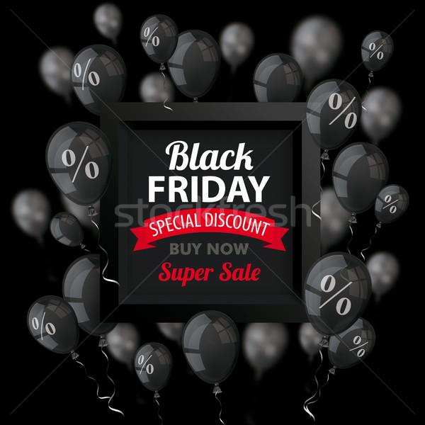 Black friday preto balões quadro cobrir escuro Foto stock © limbi007