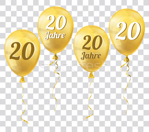 Golden Transparent Balloons 20 Jahre Stock photo © limbi007