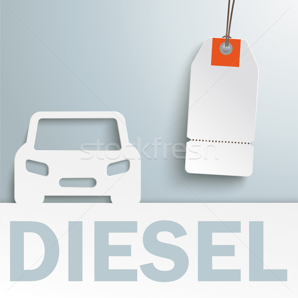 Diesel Car Cover Price Sticker Stock photo © limbi007