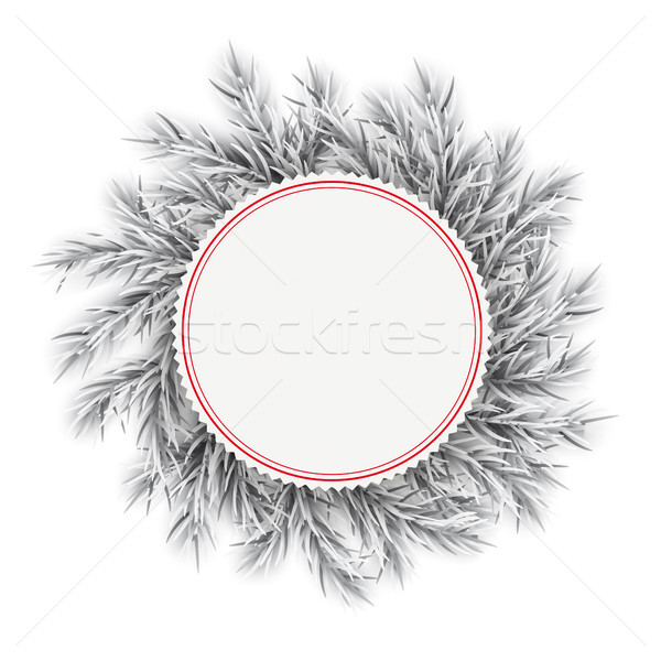 Frozen Twigs Red Emblem Stock photo © limbi007