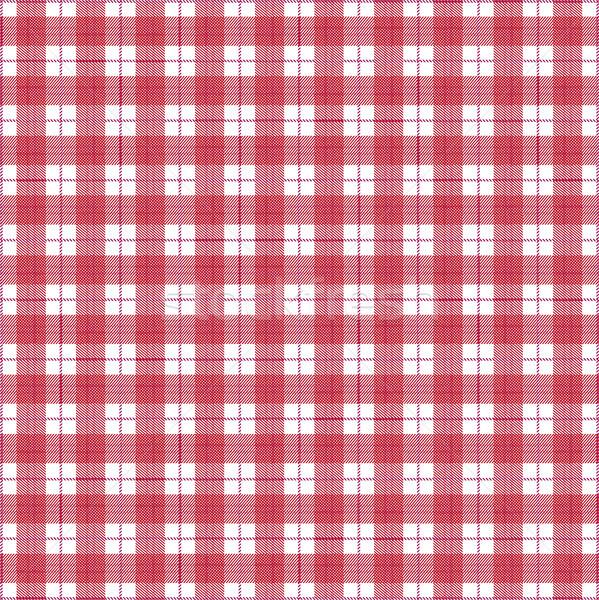 Scottish Red White Tartan Pattern Stock photo © limbi007