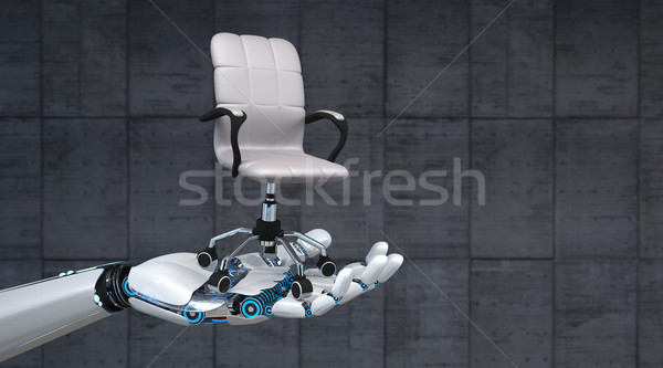 Robot Hand Swivel Chair Stock photo © limbi007