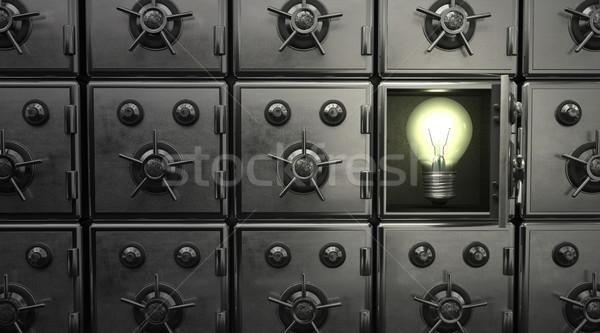 Safe Idea Bulb Stock photo © limbi007
