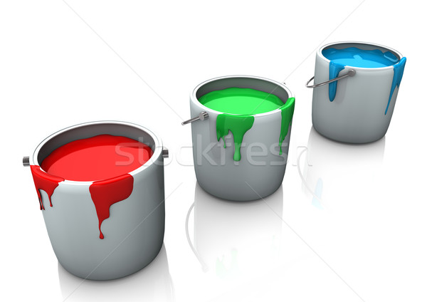 RGB Paint Stock photo © limbi007
