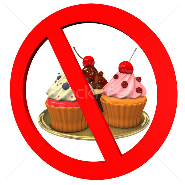 Stock photo: Cupcakes Forbidden