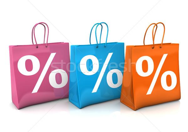 Shopping Bags Percent Stock photo © limbi007