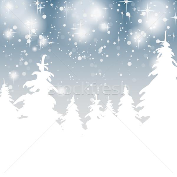 Nieve estrellas gris eps 10 vector Foto stock © limbi007