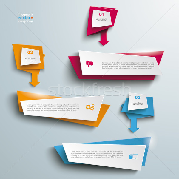 Leaflet Banners With Arrows 3 Options Stock photo © limbi007