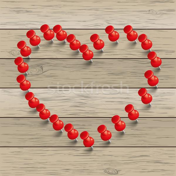 Vermelho coração eps 10 vetor Foto stock © limbi007