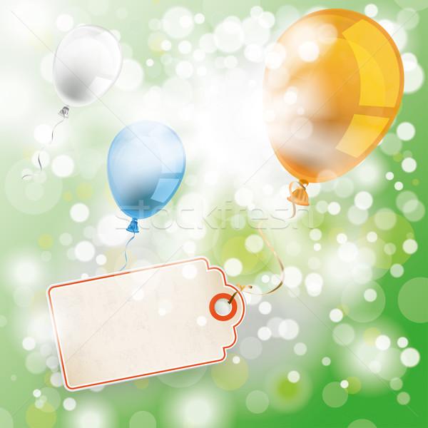 Yaz güneş ışığı balonlar fiyat etiket renkli Stok fotoğraf © limbi007