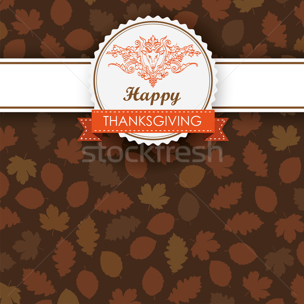Autumn Foliage Thanksgiving Emblem Banner Stock photo © limbi007