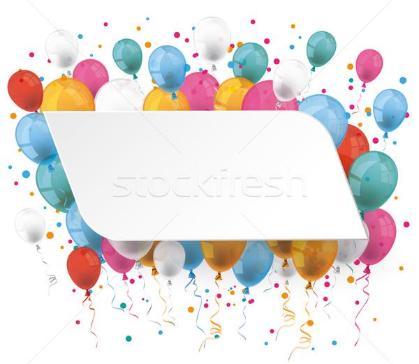 White Paper Balloons Stock photo © limbi007