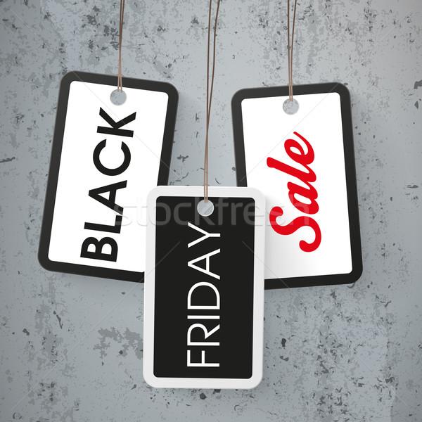 Preço adesivos black friday venda concreto texto Foto stock © limbi007