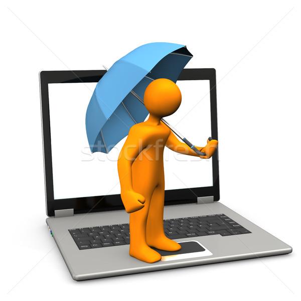 Manikin Laptop Umbrella Stock Photo Limbi007 7804573