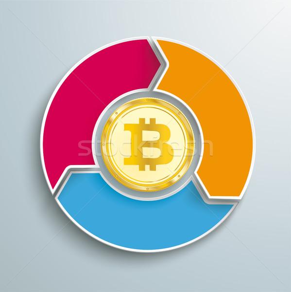 Bitcoin anello opzioni ciclo colorato Foto d'archivio © limbi007