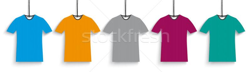 5 Colored T-Shirts Header Stock photo © limbi007