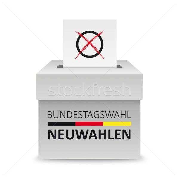 Voting Box Paper Bundestagswahl Neuwahlen Stock photo © limbi007