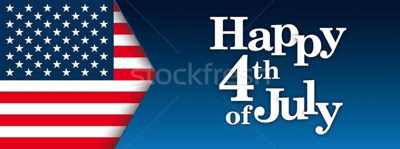 Header Happy 4th Of July USA Flag Stock photo © limbi007