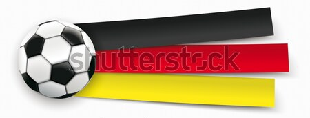 Paper Banner Football Germany Stock photo © limbi007