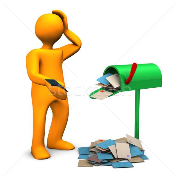 Overcrowded Mailbox Stock photo © limbi007