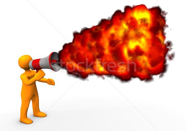 Blog Fire Stock photo © limbi007