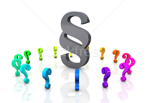 Paragraph Colorful Question Marks Stock photo © limbi007