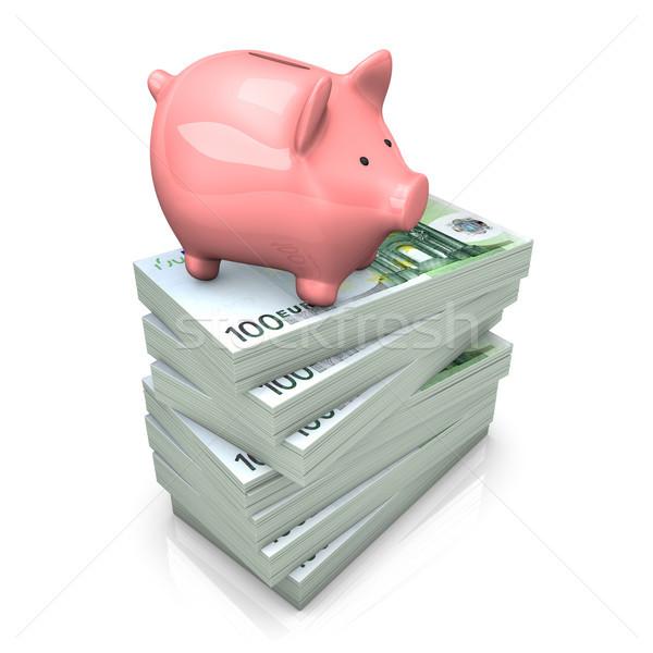 Piggy Bank Euros Stock photo © limbi007