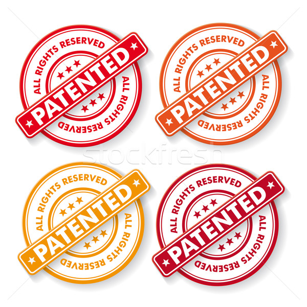 All Rights Reserved Patendet Stamp Labels Stock photo © limbi007