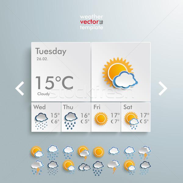 Weather Rectangles Template  Stock photo © limbi007