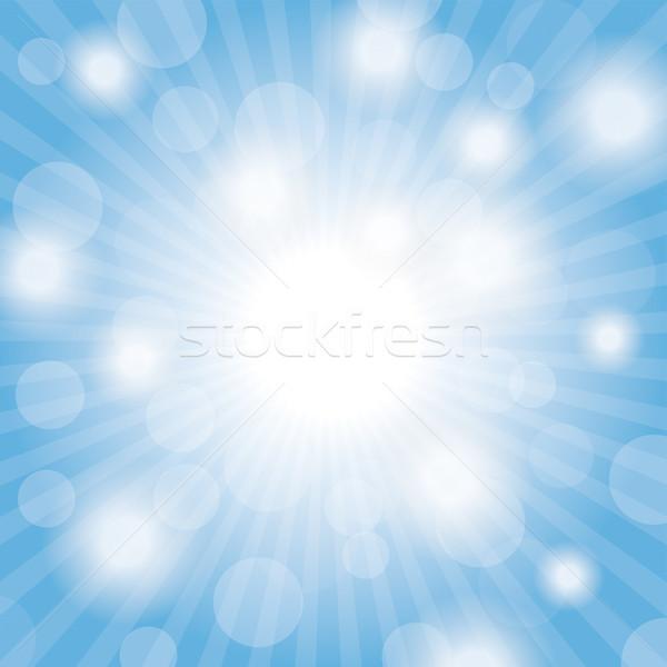 üzlet dollár csillogás kék ég fények eps Stock fotó © limbi007