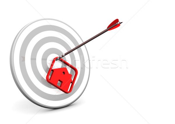 House Arrow Target Stock photo © limbi007