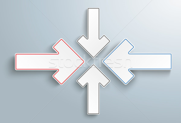 Kâğıt oklar çözüm çapraz gri eps Stok fotoğraf © limbi007