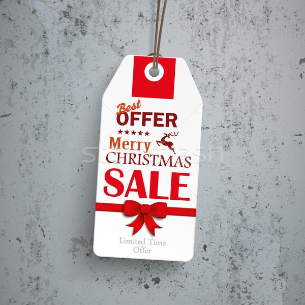 Cena naklejki christmas konkretnych sprzedaży Zdjęcia stock © limbi007