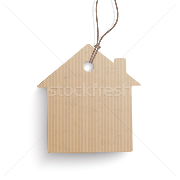 Carton Paper House Price Sticker Stock photo © limbi007