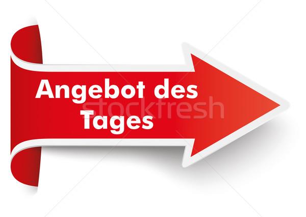 Convert Red Arrow Banner Tagesangebot Stock photo © limbi007