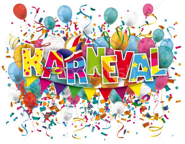 Karneval Balloons Confetti Stock photo © limbi007