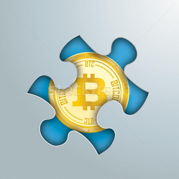 головоломки дыра bitcoin серый прибыль на акцию Сток-фото © limbi007