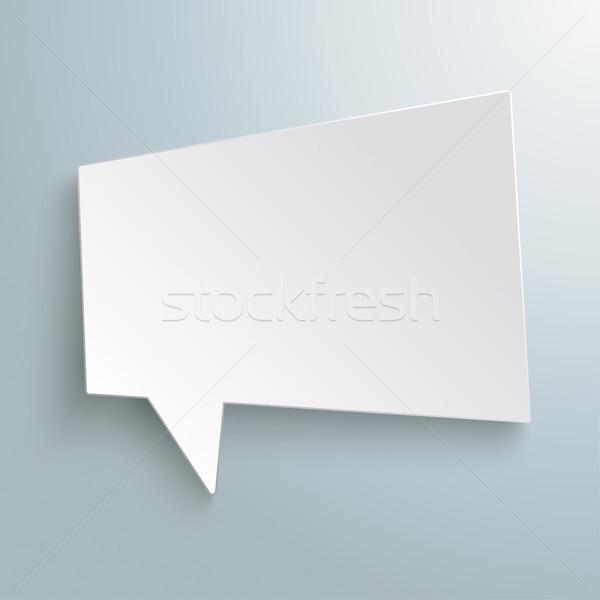 Fehér szövegbuborék forma szürke eps 10 Stock fotó © limbi007