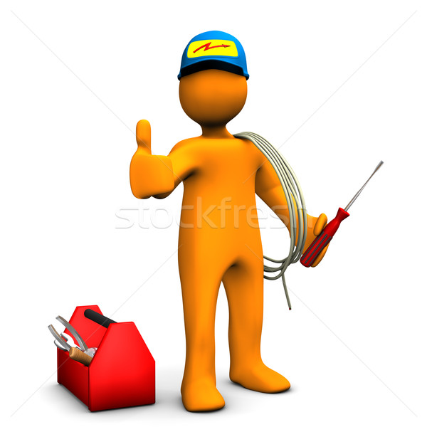 Electrician OK Stock photo © limbi007