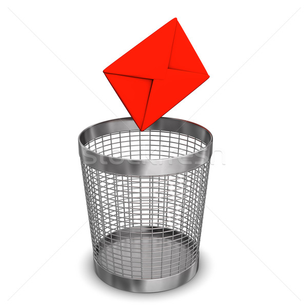Letter Wastebasket Stock photo © limbi007