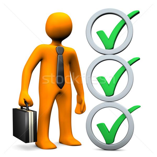 Businessman Abstract Checklist Stock photo © limbi007