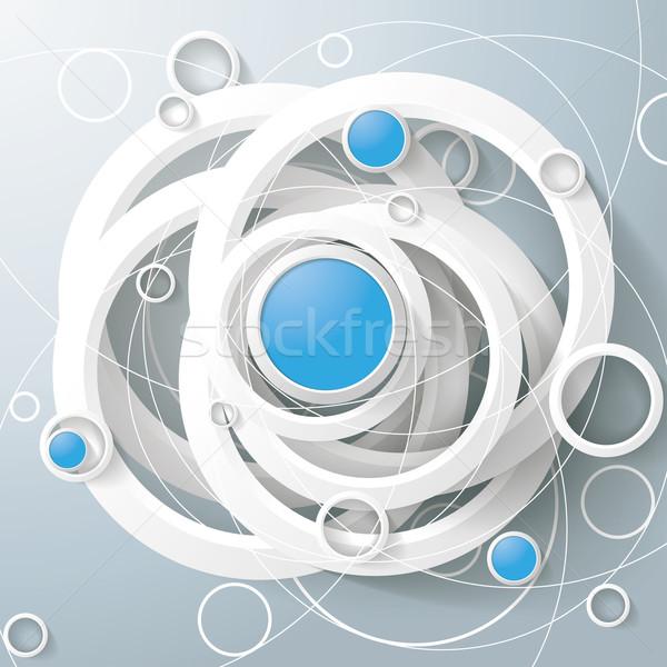 Biały pierścienie niebieski circles magic trójkąt Zdjęcia stock © limbi007