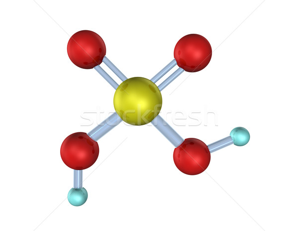 酸 3D 3次元の図 ルックス 白 室 ストックフォト © limbi007