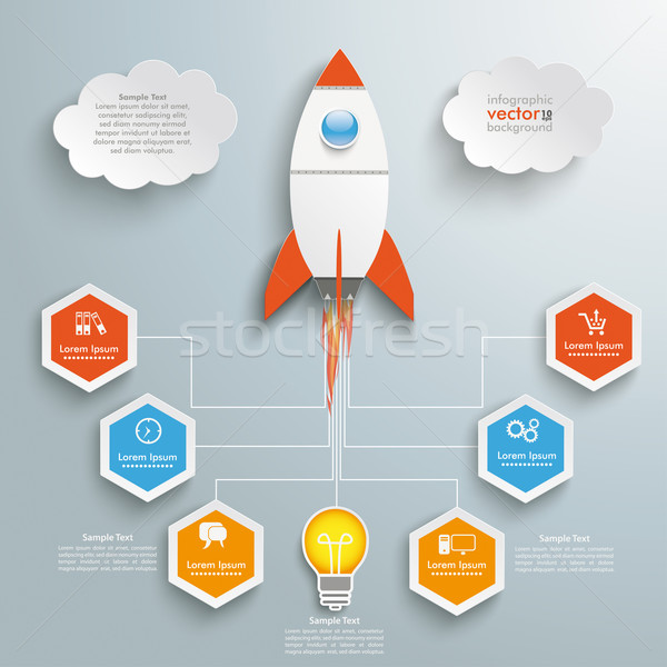 Bulb Startup Infographic Stock photo © limbi007
