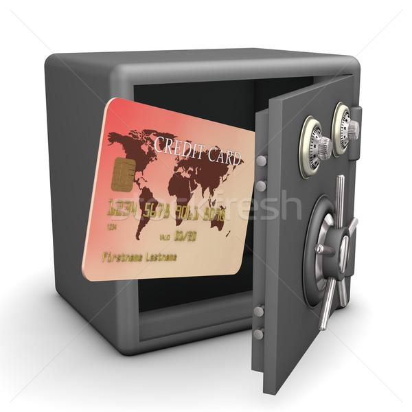 Safe Credit Card Stock photo © limbi007
