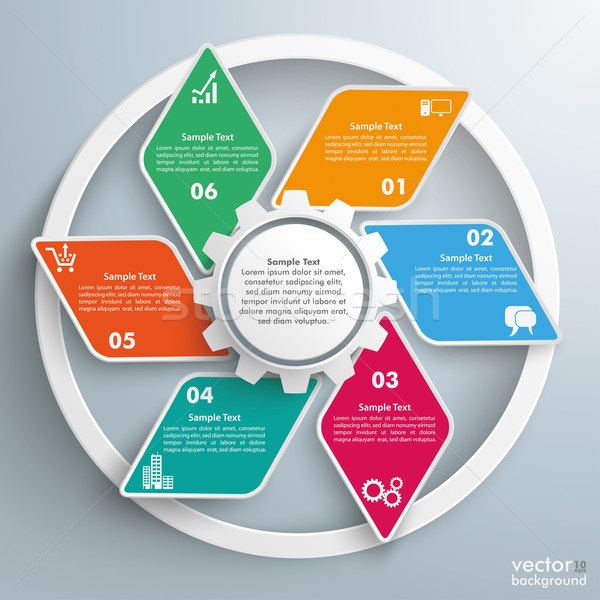 Gear Rhombus Cycle Infographic Stock photo © limbi007