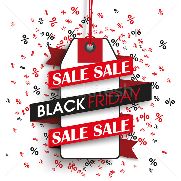 Black friday prix vignette ruban texte vente Photo stock © limbi007