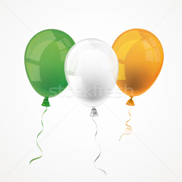 Irish Flag 3 Balloons Stock photo © limbi007