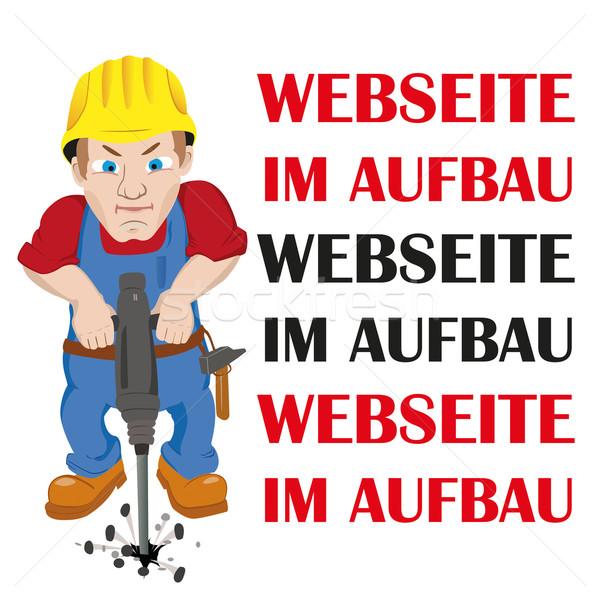 Webseite im Aufbau Worker Stock photo © limbi007