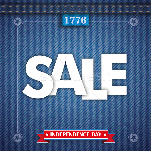 Jeans Vintage Independence Day Frame Sale Stock photo © limbi007